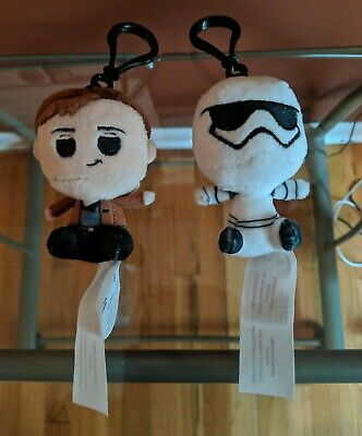 Han Solo and First Order Stormtrooper Star Wars Funko Pop Plush Keychain