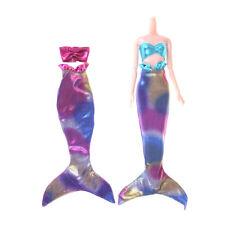 Handmade Mermaid Top Tail Dress Fairytale Clothe For Doll Girl Toy GiIJUS