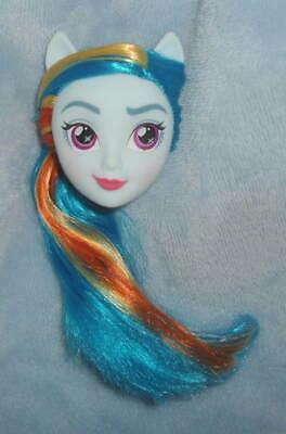 """Hasbro My Little Pony Equestria Girls RAINBOW DASH 11"""" DOLL Head NEW Blue Skin"""