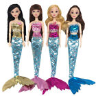 Hook &Loop Two Piece Mermaid Tail Outfits Dress Set For 11 Inch Baby Girl's Doll