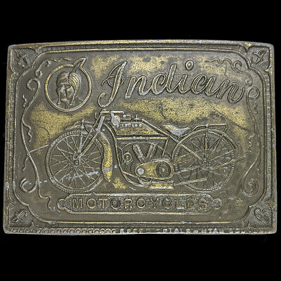 Indian Motorcycle Motocycle Laughing Chief Scout 80s Vintage Belt Buckle
