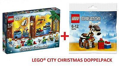 Lego 60201 City Advent Calendar +30474 Creator Reindeer Polybag New/Boxed