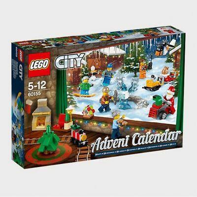 LEGO CITY ADVENT CALENDAR 60155 - NEW CHRISTMAS GIFT MINIFIGURES BUILDING BUILD