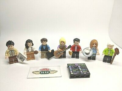 LEGO Ideas 21319 FRIENDS ALL 7 Minifigures, New with Central Perk Extras!