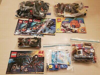 LEGO INCOMPLETE Sets 3816 3833 SpongeBob Krusty Krab 70808 Cycle Chase 9470 LotR