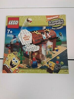 LEGO SpongeBob Squarepants Krusty Krab 2005 instruction manual only 3825