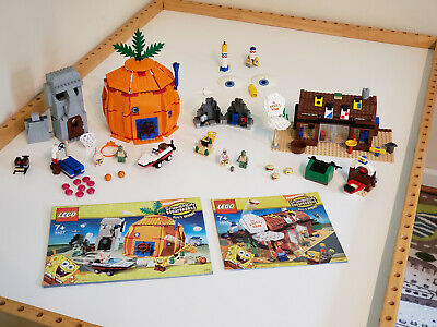 LEGO SpongeBob SquarePants Sets 3827 & 3825 Krusty Krab Bikini Bottom & Manuals