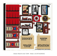Lego Sticker Sheet 1 only Set 71044 from Set 71044-1 Disney Train and Station
