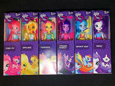 """Lot of 6 My Little Pony Equestria Girls Dolls 9"""" Rainbow Dash Fluttershy"""
