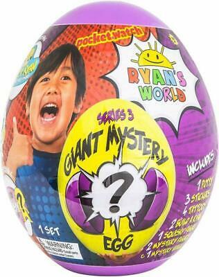 New & Sealed - RYAN'S WORLD Giant Mystery Purple Egg Series 3 Surprise Ryans Egg