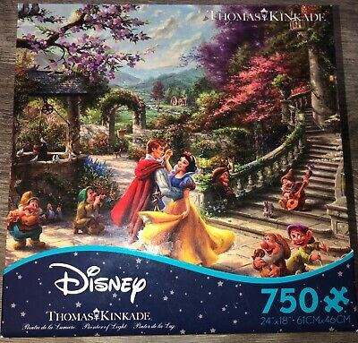 NEW Thomas Kinkade Disney's Snow White Dancing 750 Piece Puzzle FAST SHIP