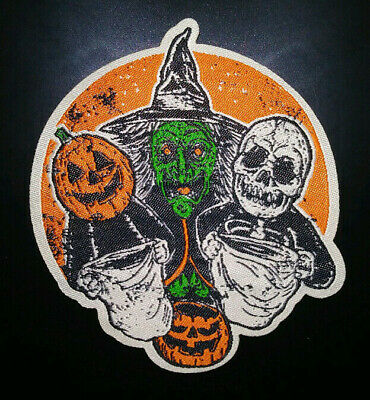 PATCH - 3 Halloween Trick or Treaters HORROR movie III witch masks jackolantern