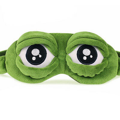 Pepe The Frog Sad Frog 3D Eye Mask Cover Sleeping Rest Sleep Anime Funny GiftFWR