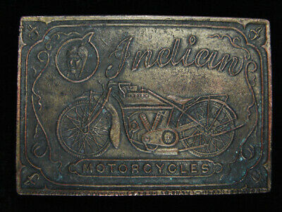 QA15171 VINTAGE 1970s **INDIAN MOTORCYCLES** COMMEMORATIVE INSTYLE BELT BUCKLE
