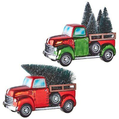 "Raz Imports Yuletide Gathering 8"" Truck With Tree Asst of 2"