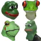 Realistic Animal Rubber Frog Mask Latex Pepe Frog Head Props Fancy Party Masks