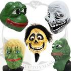 Realistic Rubber Troll Face Meme Latex Mask Comic Animal Pepe Frog Carnival Mask