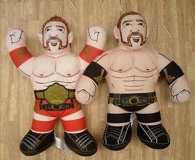 """Sheamus Celtic Warrior Brawlin' Buddy Plush Doll Set WWE WWF 17"""" Big Gold Belt"""