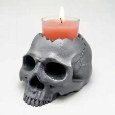 Silicone mold 3d skull candlestick diy concrete resin plaster model making mold