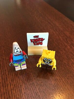 Spongebob Squarepants Patrick Star Plus Krusty Krab Sign Minifigure Mini Figure