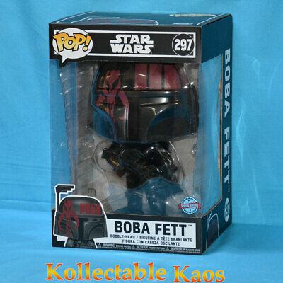 """Star Wars - Boba Fett Black 25cm(10"""") Pop! Vinyl Figure (RS) #297"""