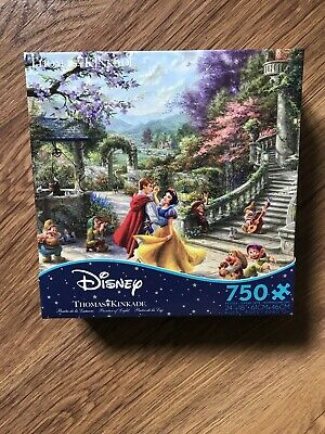 Thomas Kinkade Disney Snow White Dancing 750 Piece Ceaco Puzzle-New