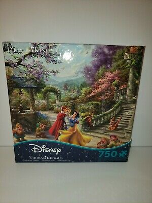 Thomas Kinkade Disney Snow White Dancing in the Sunlight 750 PC Ceaco Puzzle NEW