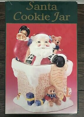 Vintage 1980's New In Box Mayview Collection Santa Christmas Cookie Jar