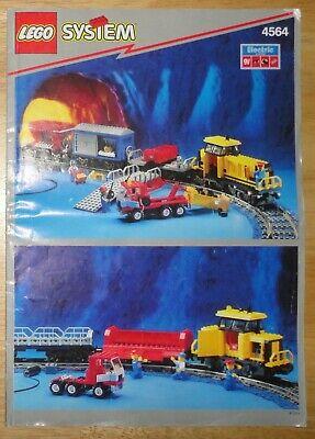 Vintage 1994 LEGO 9V FREIGHT RAIL RUNNER 4564 Instruction Manual Booklet Book