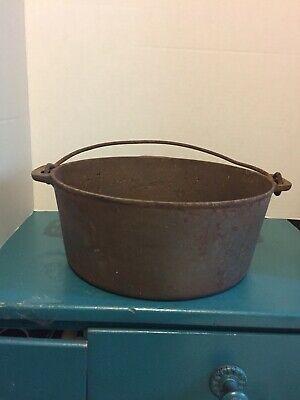 Vintage Cast Iron Dutch Oven With Handle Farmhouse Charm
