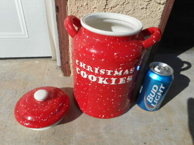 VINTAGE CHRISTMAS COOKIES JAR. Rare? Read my payment info before bidding.
