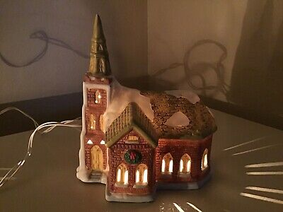 Vintage Dickens of London Christmas Village Replacement House CHURCH