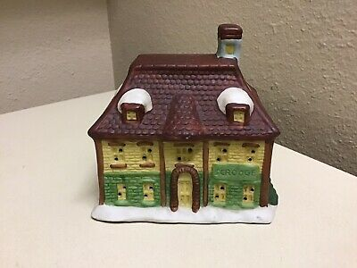 Vintage Dickens of London Christmas Village Replacement House SCROOGE