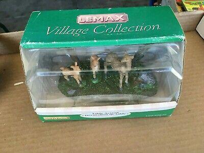 Vintage LeMax 3 Deer Christmas Village Pieces IN BOX