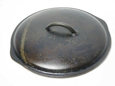 """Vintage No. 8 Cast Iron Lid for Dutch oven or Sillet, 10 5/8"""" IN"""