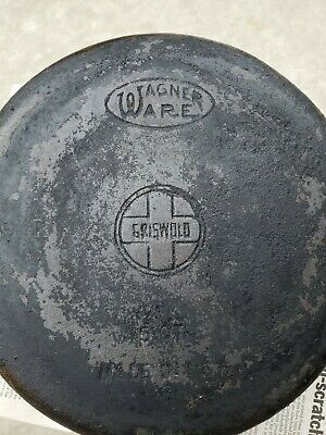 VINTAGE WAGNER WARE GRISWOLD 5 qt KETTLE DUTCH OVEN POT SMALL LOGO CAST IRON