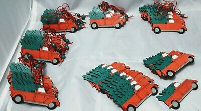 Wooden Truck Christmas Pendants Ornament Truck With Christmas Tree Decoration