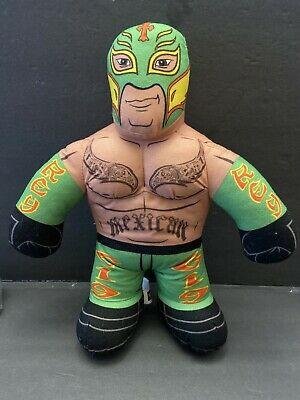 "WWE Mattel Rey Mysterio Brawlin Buddies Talking 2011 Plush Stuffed Wrestler 16"""