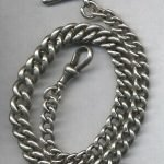 Antique Solid Silver Pocket Watch Chain