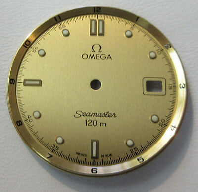 OMEGA watch SEAMASTER Gold Color 28mm Dial Only Mint Condition Vintage Original
