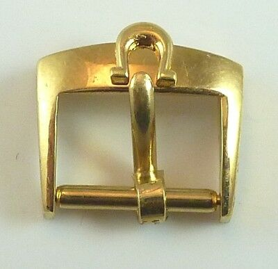 Vintage Omega Gold Plated Wristwatch Band Buckle - 10.17mm Wide - Parts / Repair