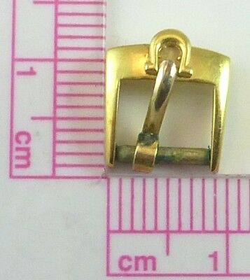 Vintage Omega Gold Plated Wristwatch Band Buckle - 7.6mm Wide - Parts / Repair