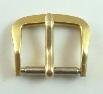 Vintage Omega Gold Tone Wristwatch Band Buckle - 11.9mm Wide - Parts / Repair