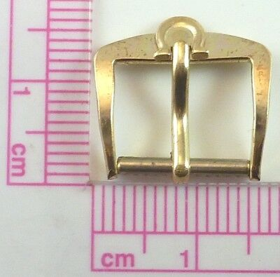 Vintage Omega Gold Tone Wristwatch Band Buckle - 12.4mm Wide - Parts / Repair