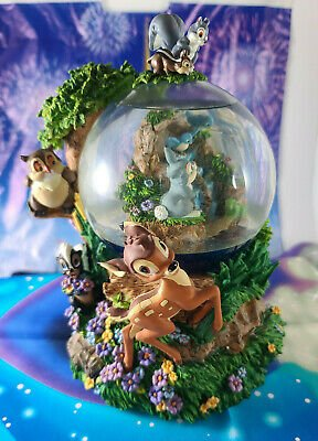 Disney Bambi Little April Showers Large Musical Snow Globe