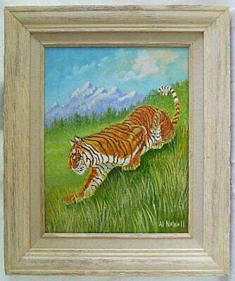 Vintage Tiger Painting