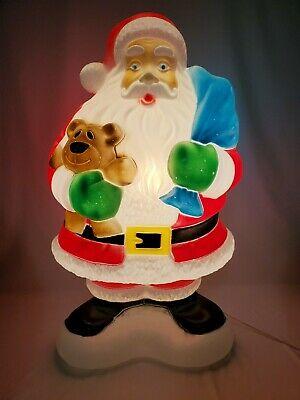vintage blow mold santa