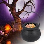 Halloween candy cauldron