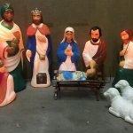 vintage blow mold nativity set