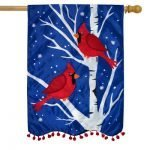 Winter Applique House Flags